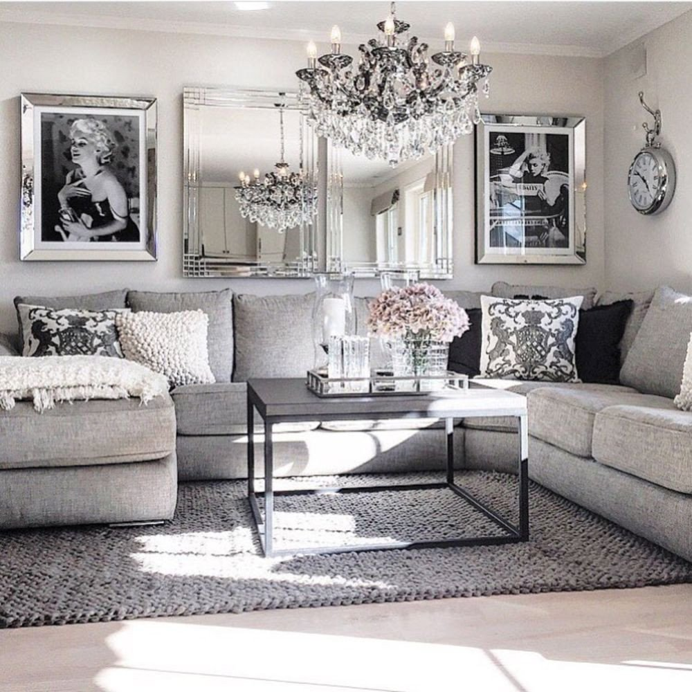 Modern Grey Living Room Decorating Ideas Modern Glam Living Room Decorating Ideas 19