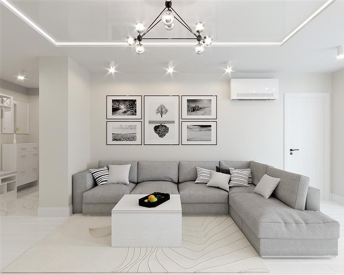 Modern Grey Living Room Decorating Ideas White & Grey Interior Design In the Modern Minimalist