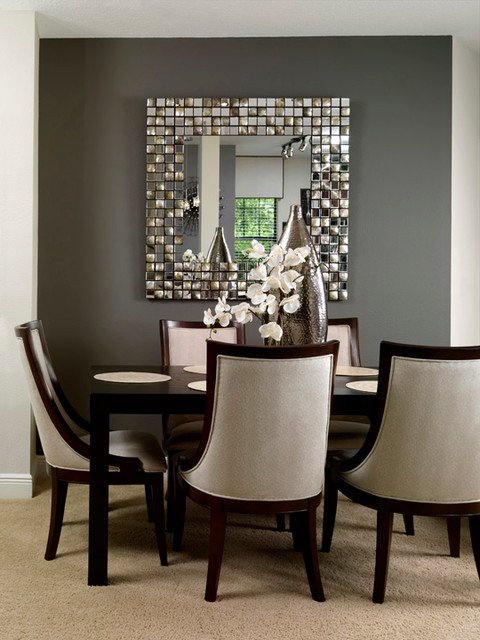 Modern Living Dining Room Decorating Ideas Condo Living Contemporary Dining Room Tampa by