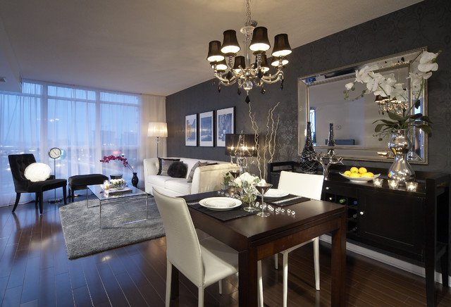 Modern Living Dining Room Decorating Ideas Residential and Condo Interior Design Vancouver Other