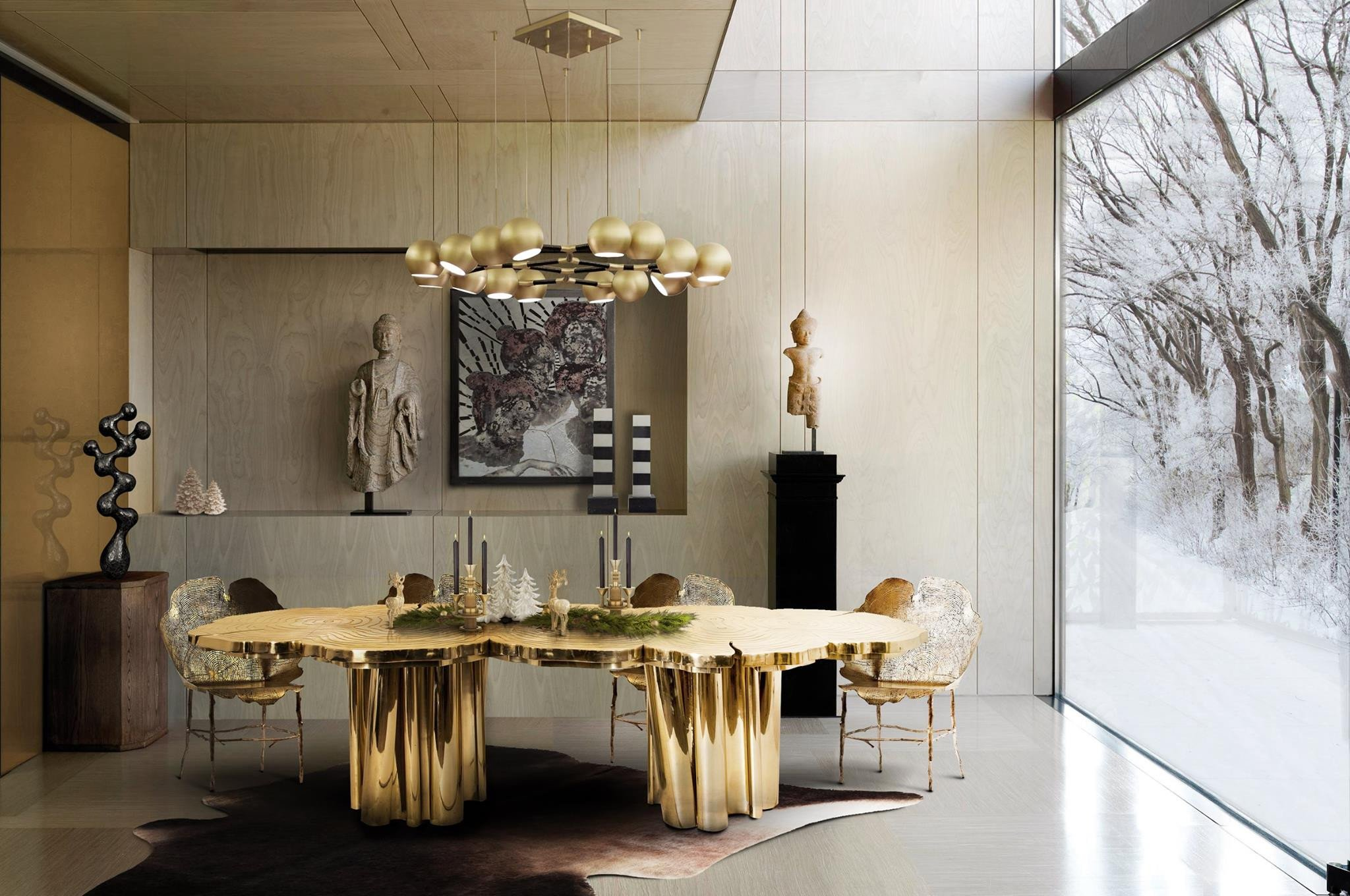 Modern Living Dining Room Decorating Ideas the Best Black and Gold Decorating Ideas for Your Dining Room