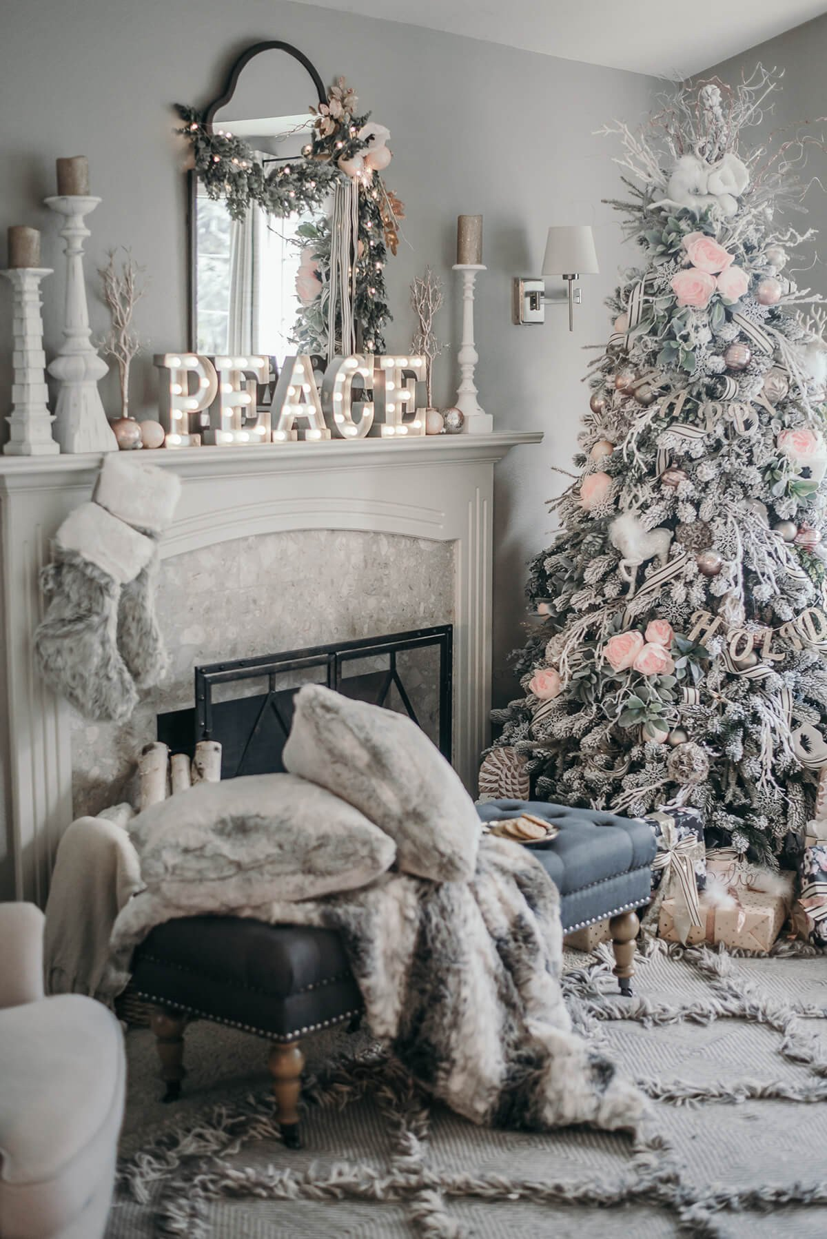 Modern Living Room Decorating Ideas Christmas 32 Best Christmas Living Room Decor Ideas and Designs for 2019