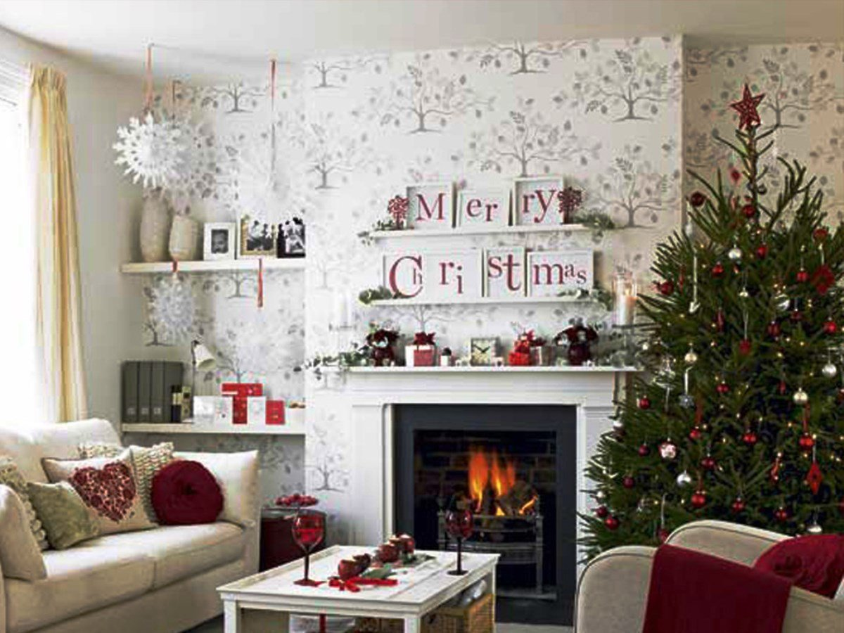 Modern Living Room Decorating Ideas Christmas Christmas Living Room Decorations Ideas &
