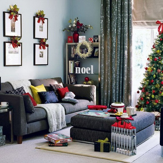 Modern Living Room Decorating Ideas Christmas Holiday Decorating Ideas for Small Spaces Interior