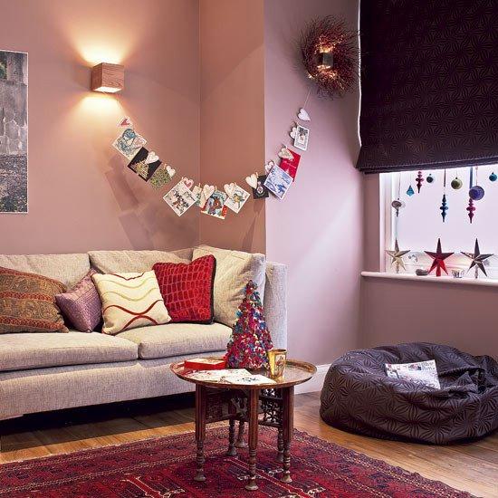 Modern Living Room Decorating Ideas Christmas Kitchen Diner Modern Christmas Decorations