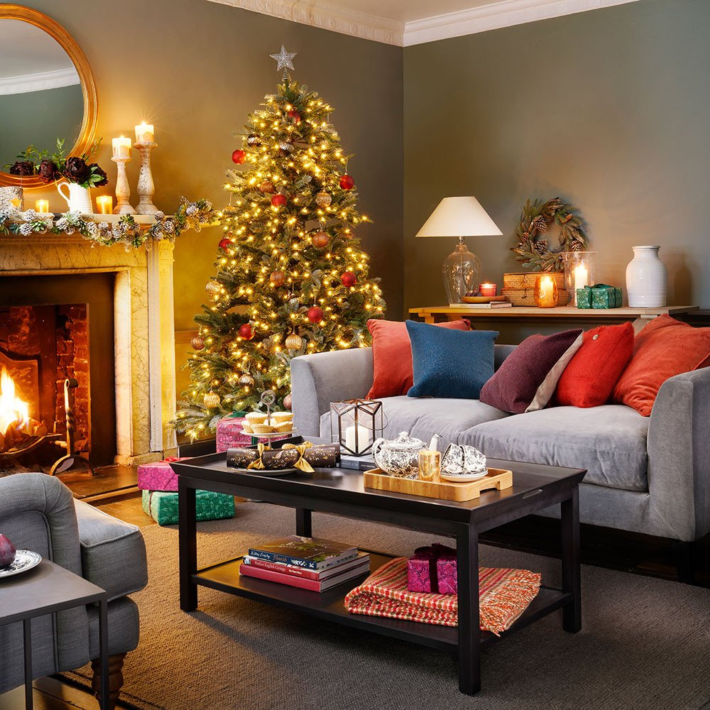 Modern Living Room Decorating Ideas Christmas Modern Christmas Decorating Ideas