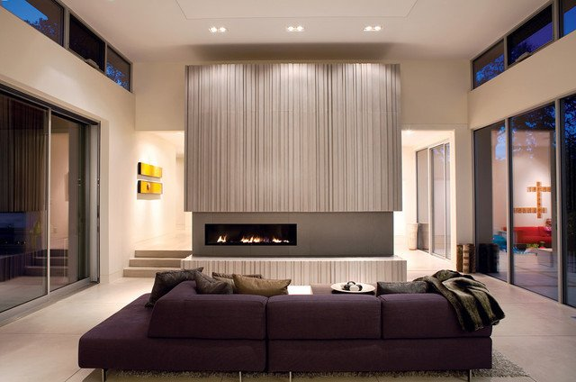 Modern Living Room Decorating Ideas Fireplace Warm and Modern Fireplace Modern Living Room San