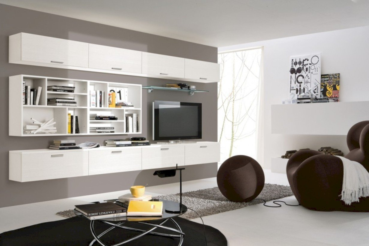 Modern Living Room Decorating Ideas Storage 42 Modern Living Room Wall Units Ideas with Storage