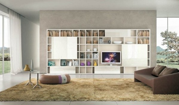 Modern Living Room Decorating Ideas Storage Modern Living Room Ideas with Brown Shelving
