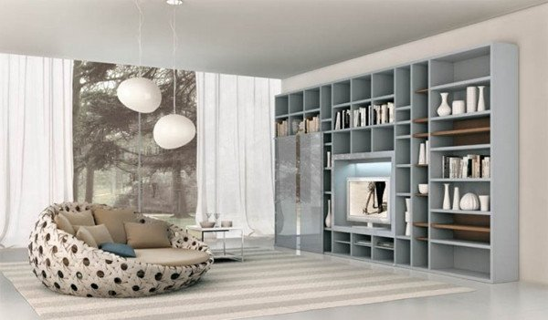 Modern Living Room Decorating Ideas Storage Modern Living Rooms with Shelving Storage Units