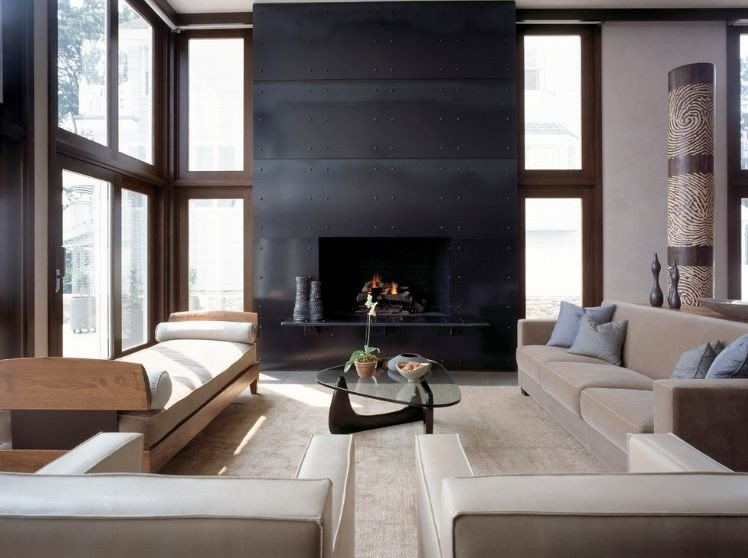 Modern Living Room How to Arrange the Furniture Around A Fireplace