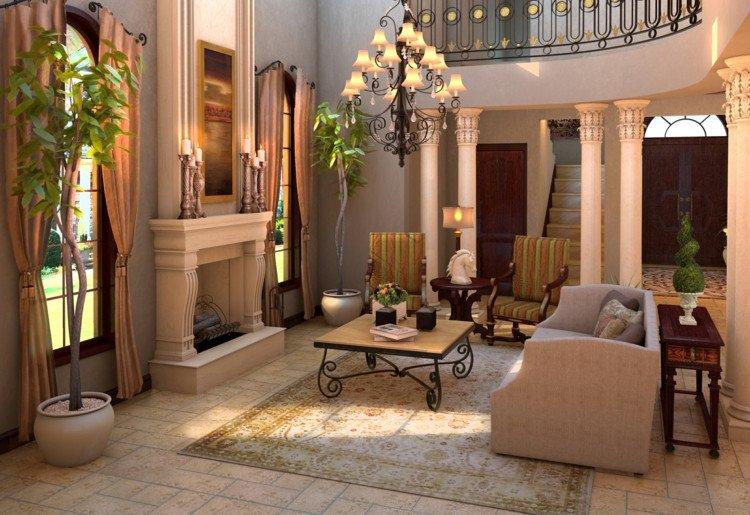 Modern Living Room Tuscan Decorating Ideas Moderne Einrichtung Mit Rustikalem Wohnkonzept Im Stil Der