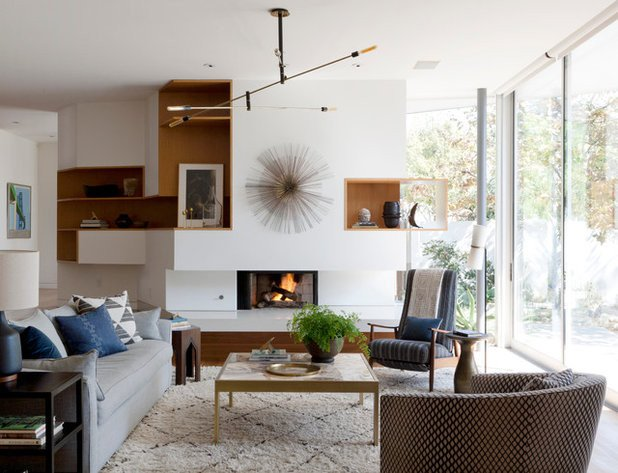 Modern Living Room Wall Decor Houzz tour Earthy Decor Adds Warmth to A Modern Home