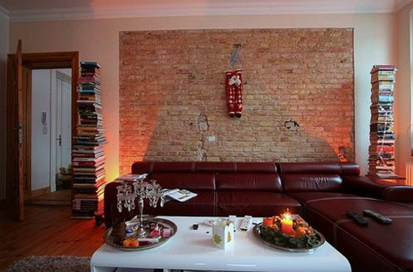 Modern Living Room Wall Decorating Ideas Brick Laminate Picture Brick Interior Design Ideas
