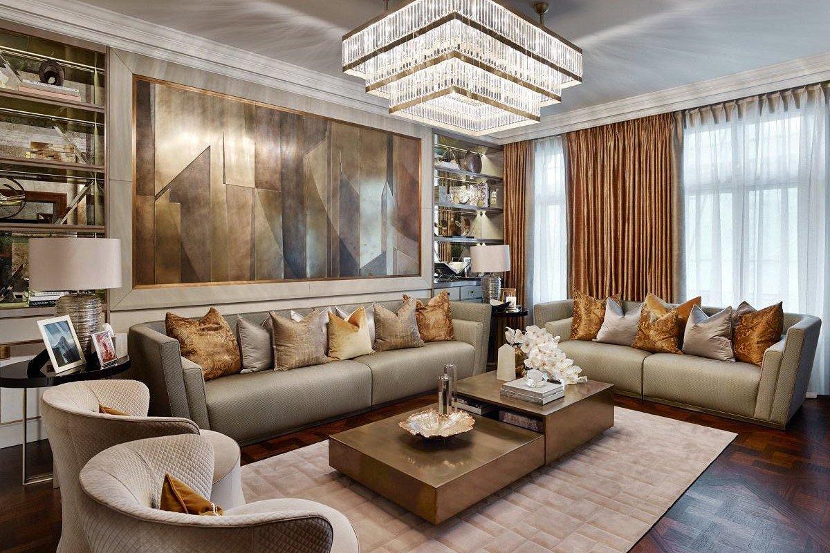 Modern Luxury Living Room Decorating Ideas Contemporary Luxury Design Hyde Park