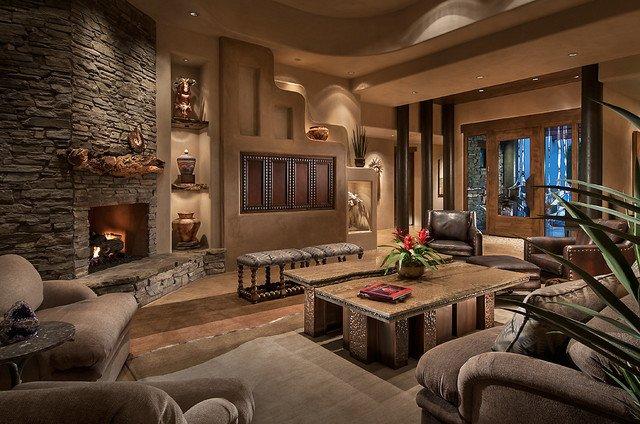 Modern Mediterranean Living Room Decorating Ideas southwest Contemporary southwestern Living Room