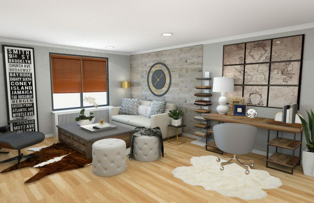 Modern Rustic Decor Living Room before & after Modern Rustic Living Room Design Line