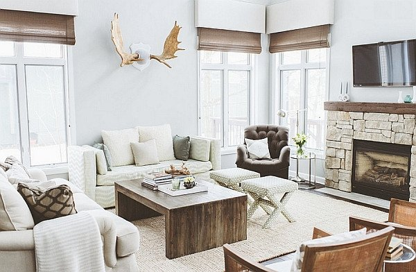 Modern Rustic Decor Living Room Breezy Summer House Lake Wisconsin Clad In Chic Modern