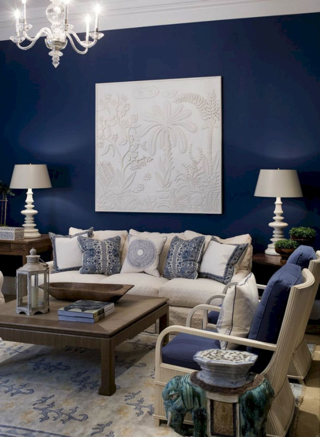 Navy Blue Living Room Decor 45 Best Beautiful Navy & Brown Living Room Ideas