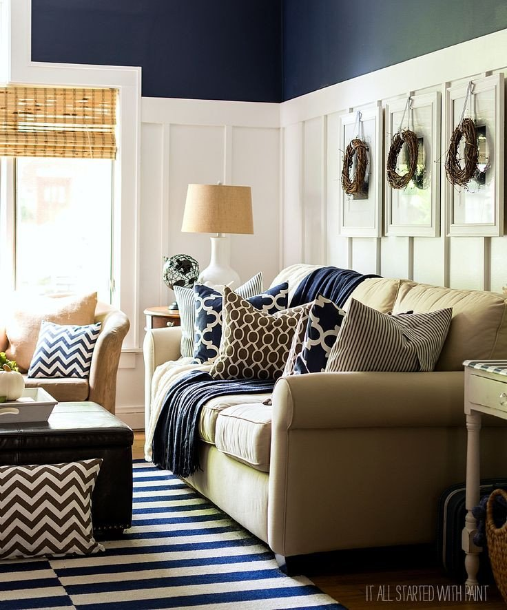 Navy Blue Living Room Decor Fall Decor In Navy and Blue Favorite Finds
