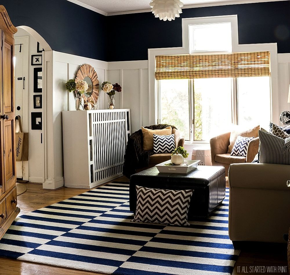 Navy Blue Living Room Decor Fall Decor In Navy and Blue for the Home