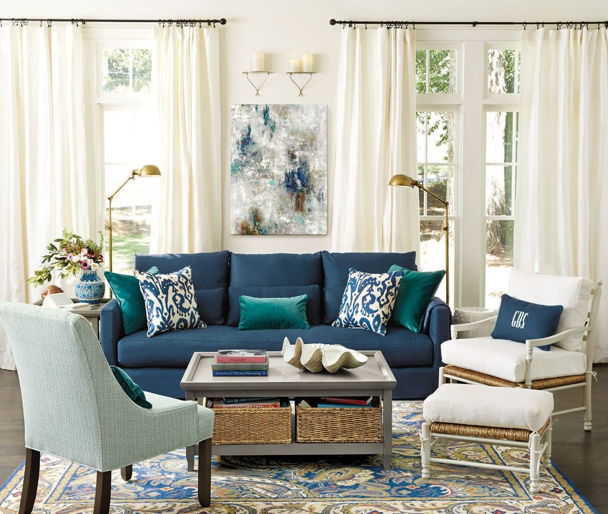Navy Blue Living Room Decor Living Rooms Ideas for Decorating