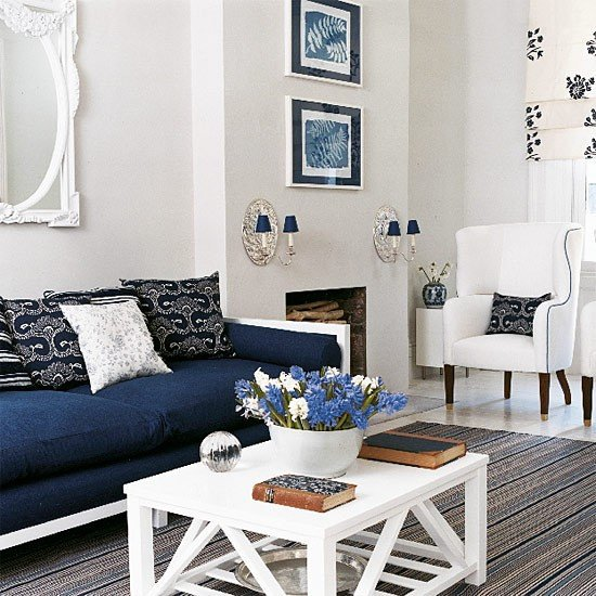Navy Blue Living Room Decor Navy Blue Living Room Decorating Ideas