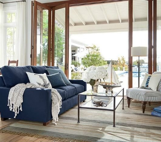 Navy Blue Living Room Decor Stylish Nautical Navy Blue & White Decor From Pottery Barn