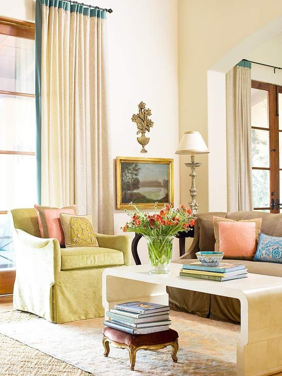 Neutral Living Room Color Ideas 2013 Neutral Living Room Decorating Ideas From Bhg