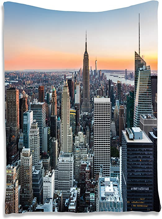 New York City Bedroom Decor Ambesonne New York Tapestry Nyc Manhattan Skyline Cityscape Contemporary Sunset Landscape Print Wall Hanging for Bedroom Living Room Dorm