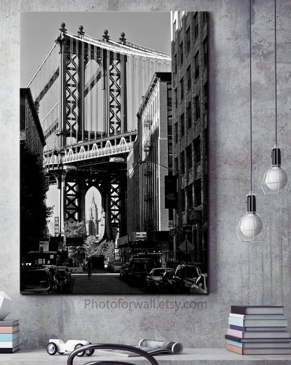 New York City Bedroom Decor Empire State Building New York Prints New York Gift New York City Black and White Graphy Nyc Fice Decor Dorm Room