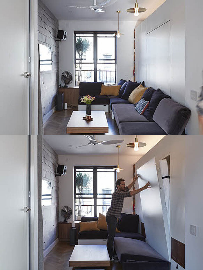 New York City Bedroom Decor Tiny 350 Square Foot Smart Apartment In New York City