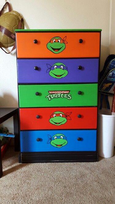 Ninja Turtles Bedroom Ideas Tmnt Ninja Turtles Hand Painted Dresser