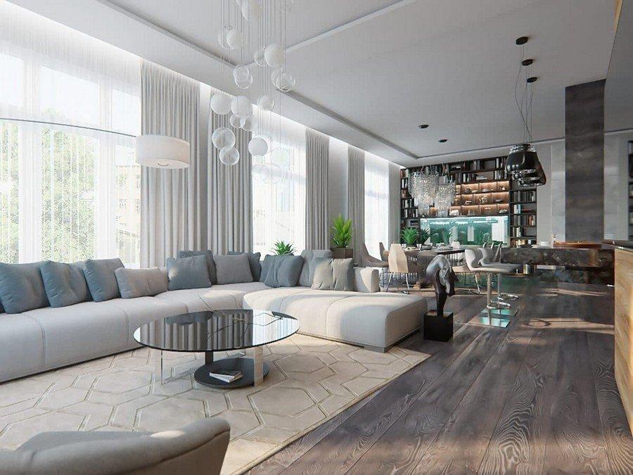 Open Concept Living Room Ideas Gorgeous Open Concept Living Room In Contemporary Style
