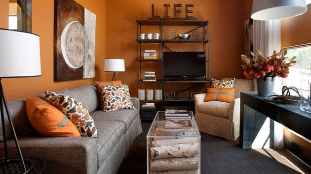 Orange Decor for Living Room 15 Close to Fruity orange Living Room Designs