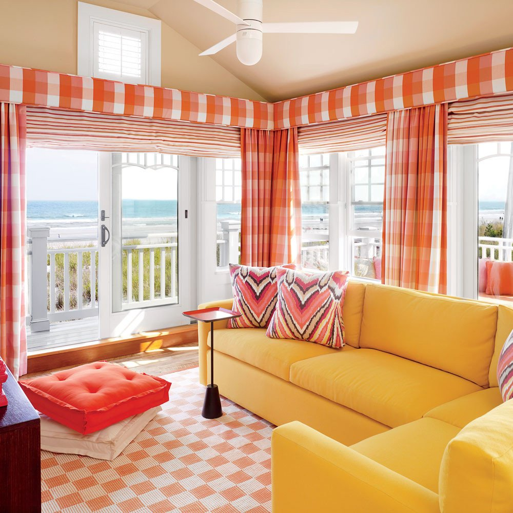 Orange Decor for Living Room 20 Ways to Decorate with orange and Yellow Coastal Living