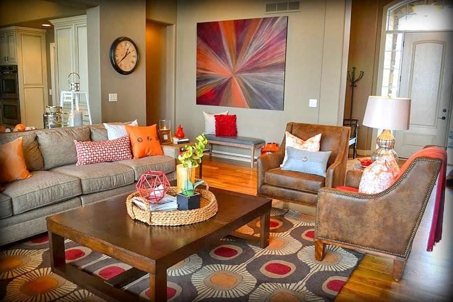 Orange Decor for Living Room 40 orange Living Room Ideas S