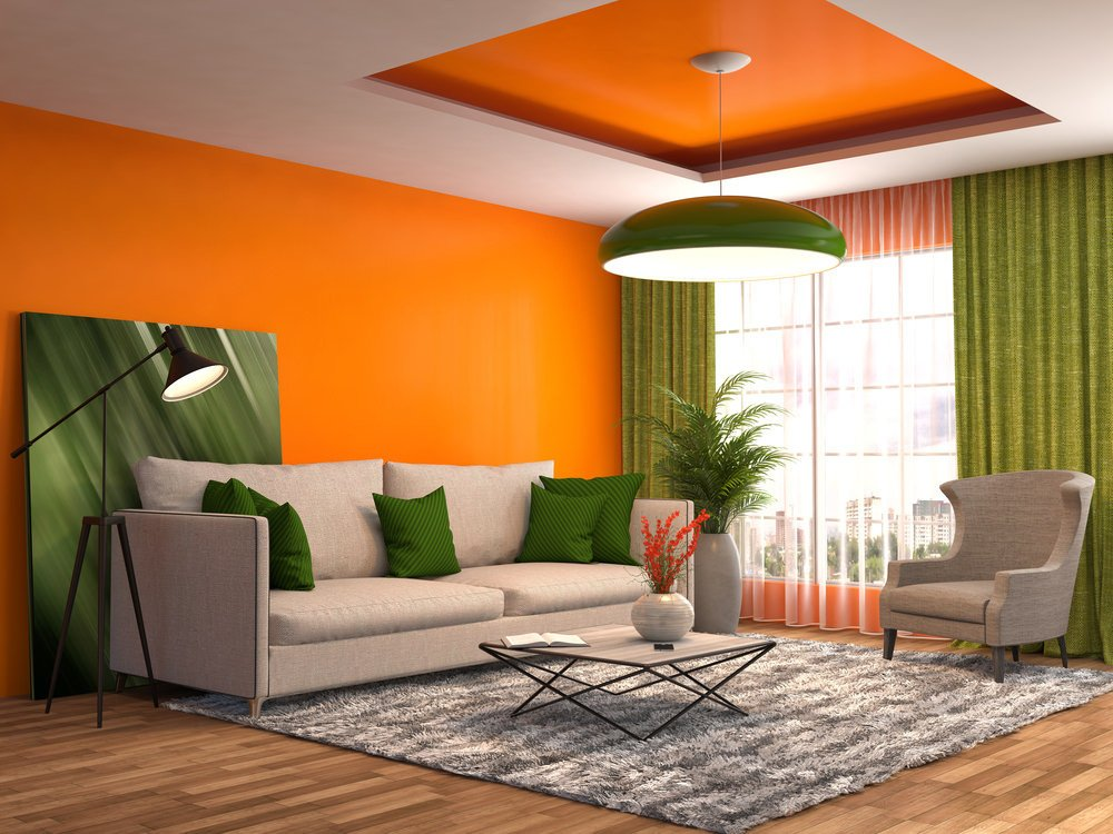 Orange Decor for Living Room 40 orange Living Room Ideas S