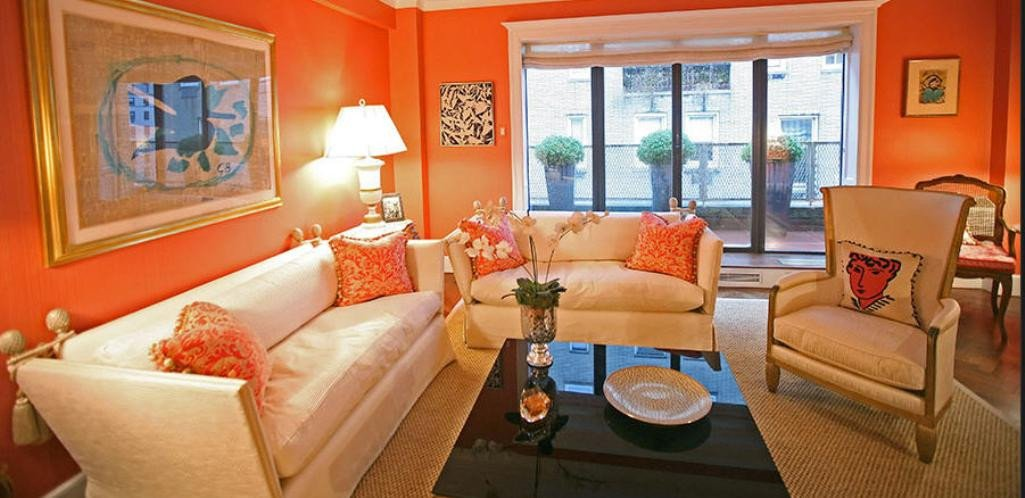 Orange Decor for Living Room Bright Living Room Ener Ic orange Home Decor 2618