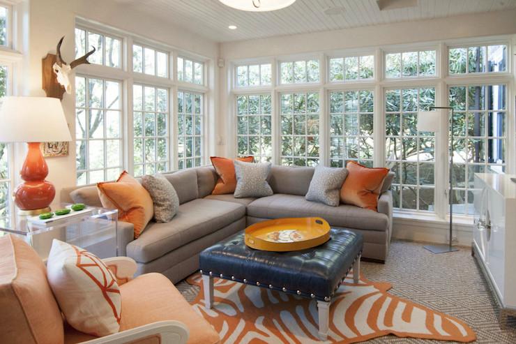 Orange Decor for Living Room Interior Design Inspiration Photos by Cynthia Brooks Design