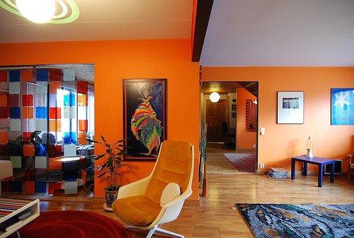 Orange Decor for Living Room Modern House Ideas Of orange Modern Living Room Decoration