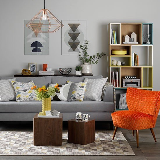 Orange Decor for Living Room orange and Grey Living Room Ideas Zion Star