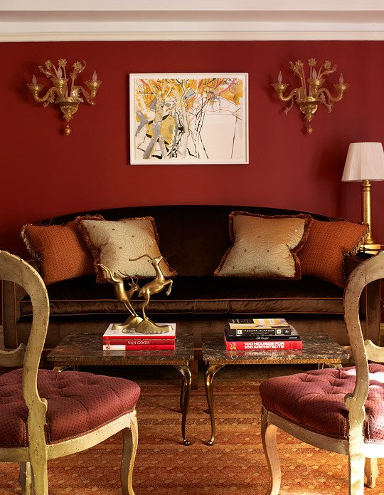 Orange Traditional Living Room Decorating with orange An Instant Pick Me Up