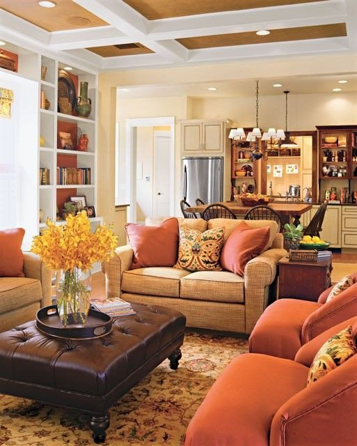 Orange Traditional Living Room How to Achieve A Traditional Style