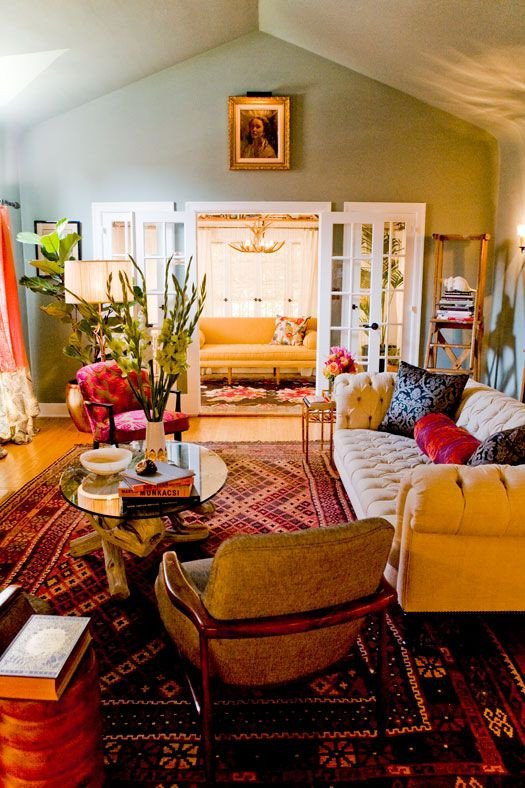 Orange Traditional Living Room I Like Everything About This Room Ho Traditional but