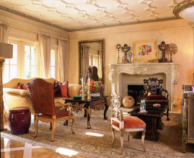 Orange Traditional Living Room Italian Style In Newport Coast California Traditional