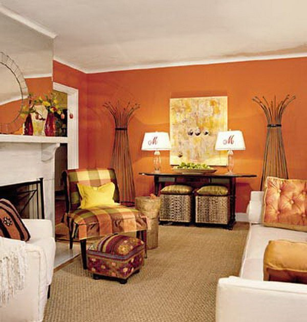 Orange Traditional Living Room Pretty Living Room Colors for Inspiration Hative
