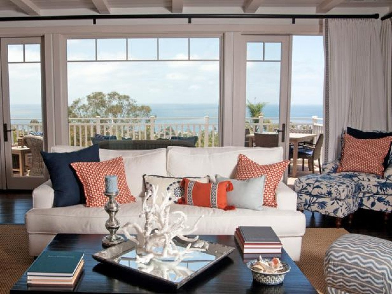 Orange Traditional Living Room Traditional Home Accents orange and Teal Navy and orange