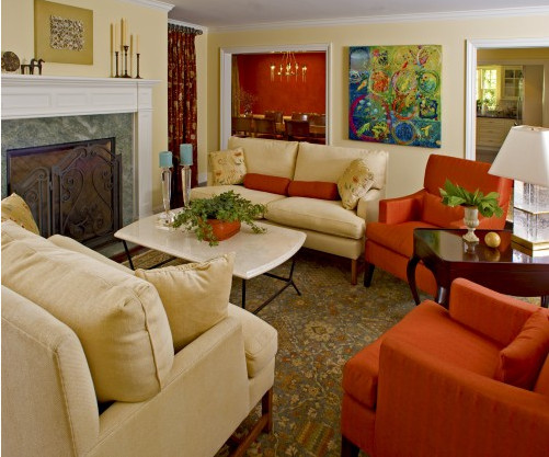 Orange Traditional Living Room Wel E to isies Tips