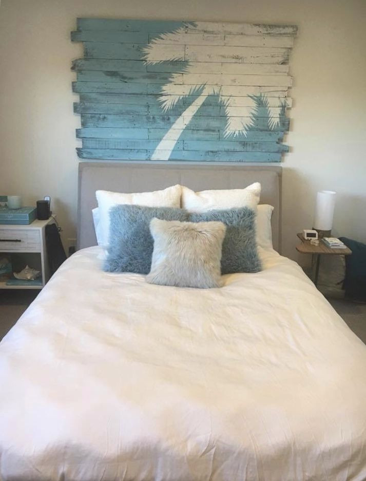 Palm Tree Decor for Bedroom Beach Decor with Palm Tree Nautical Headboard